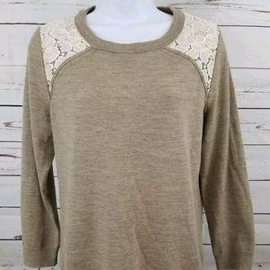 J Crew Womans Sweater Lace Pattern size M top